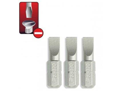 Skrutkové bity ploché SL 6.5x25mm, 3ks blister - 18A00SL650-03