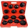 Sada kľúčov na olejové filtre, 14ks, VERKE V86210