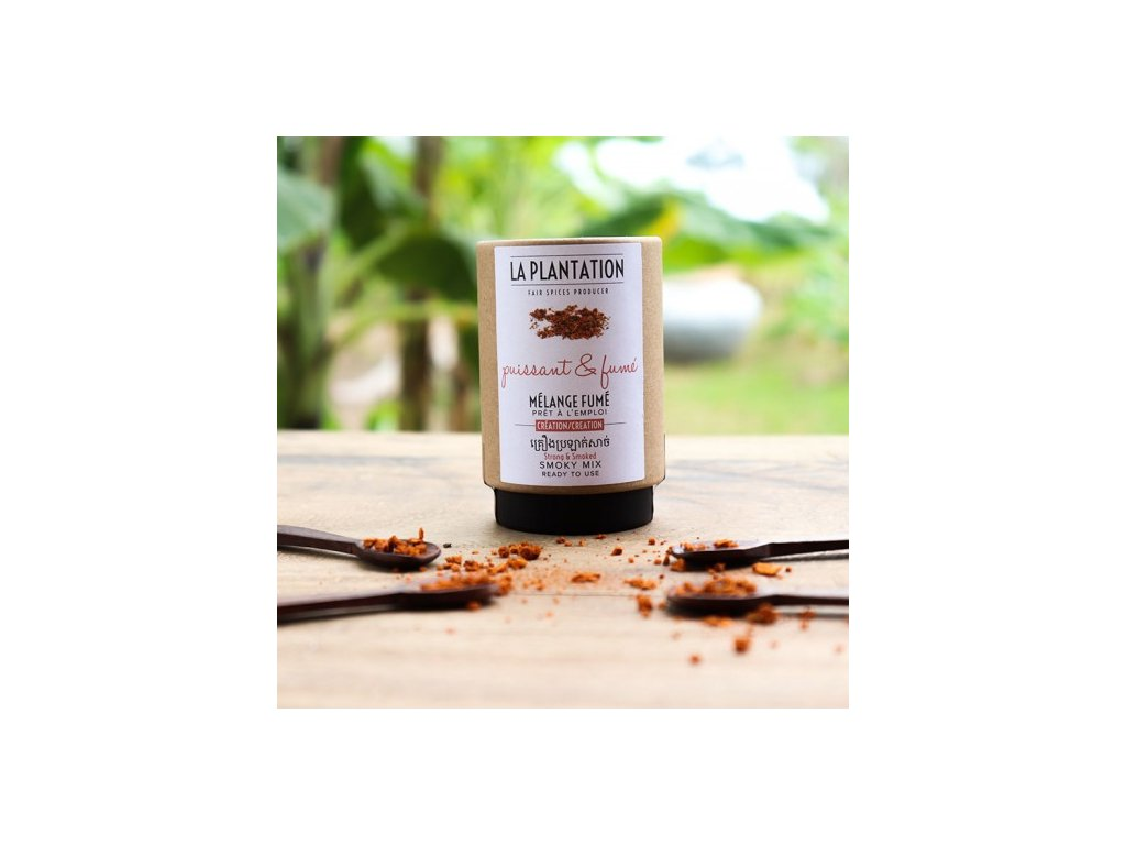 Smoky Mix (Fleur de Sel. uzená paprika a černý Kampot) 50g tubus