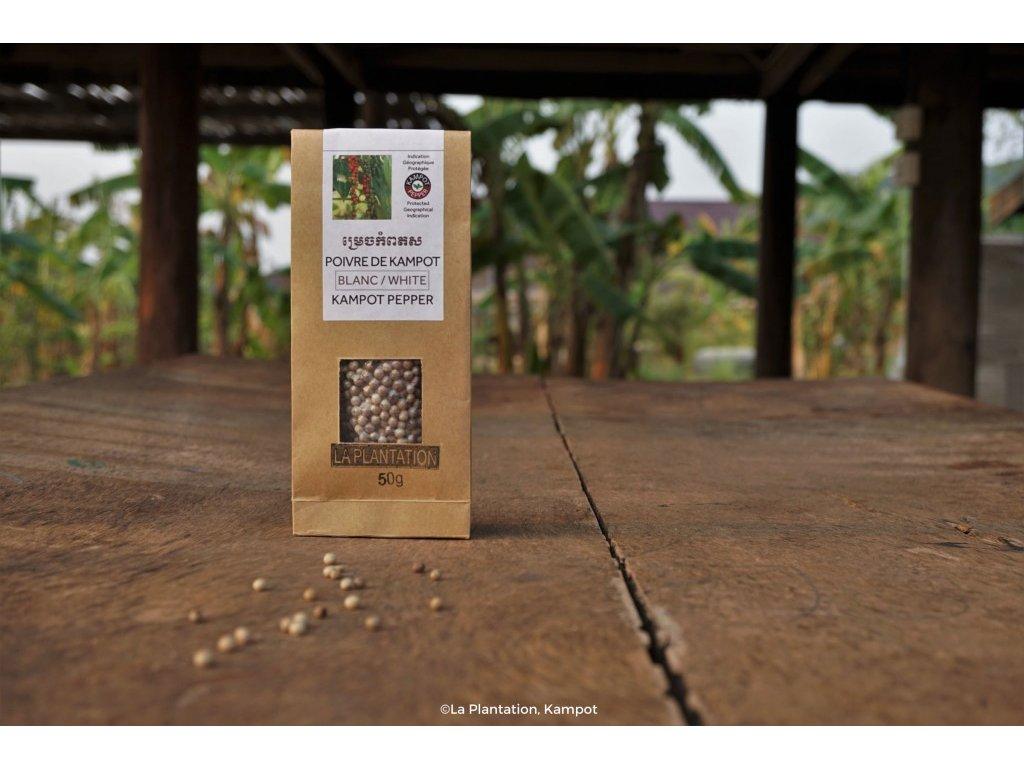Kampotský pepř bílý 50g