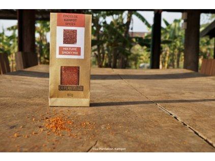 Smoky Mix (Fleur de Sel, uzená paprika a černý Kampot) 50g