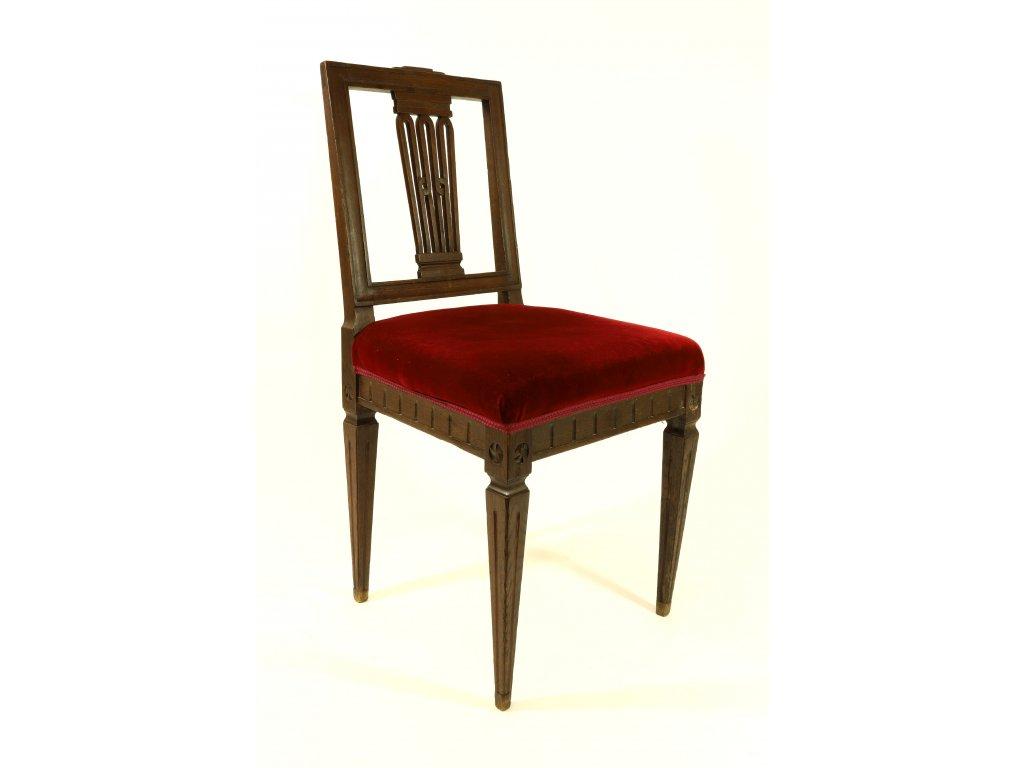 Židle čalouněné, kolem roku 1800.