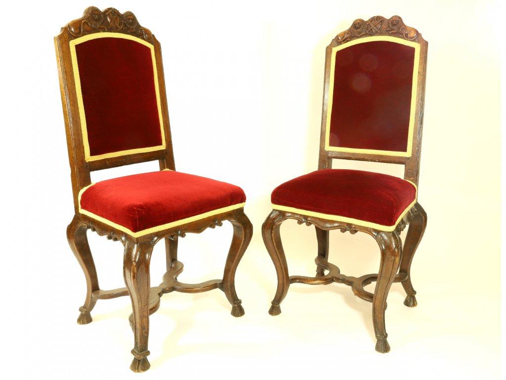 Dvě barokní židle