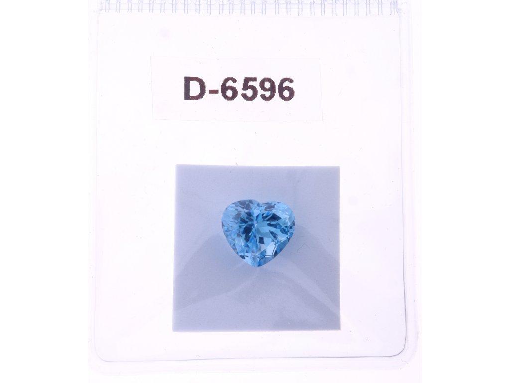 Přírodní modrý Topaz - Srdce 9,34 ct