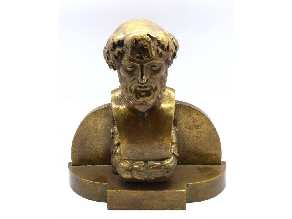 Dřevěná busta Platone