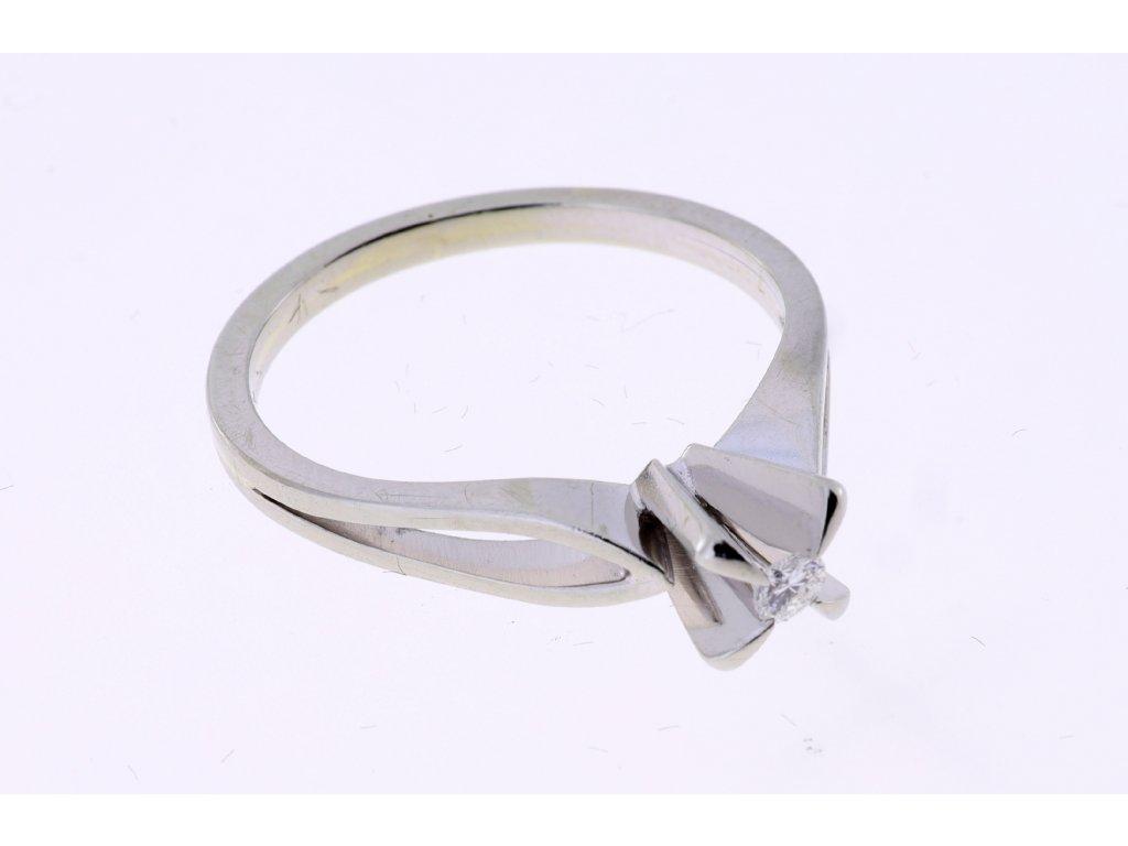 Zlaty Prsten Au 750/1000,  Diamant 0,07 ct