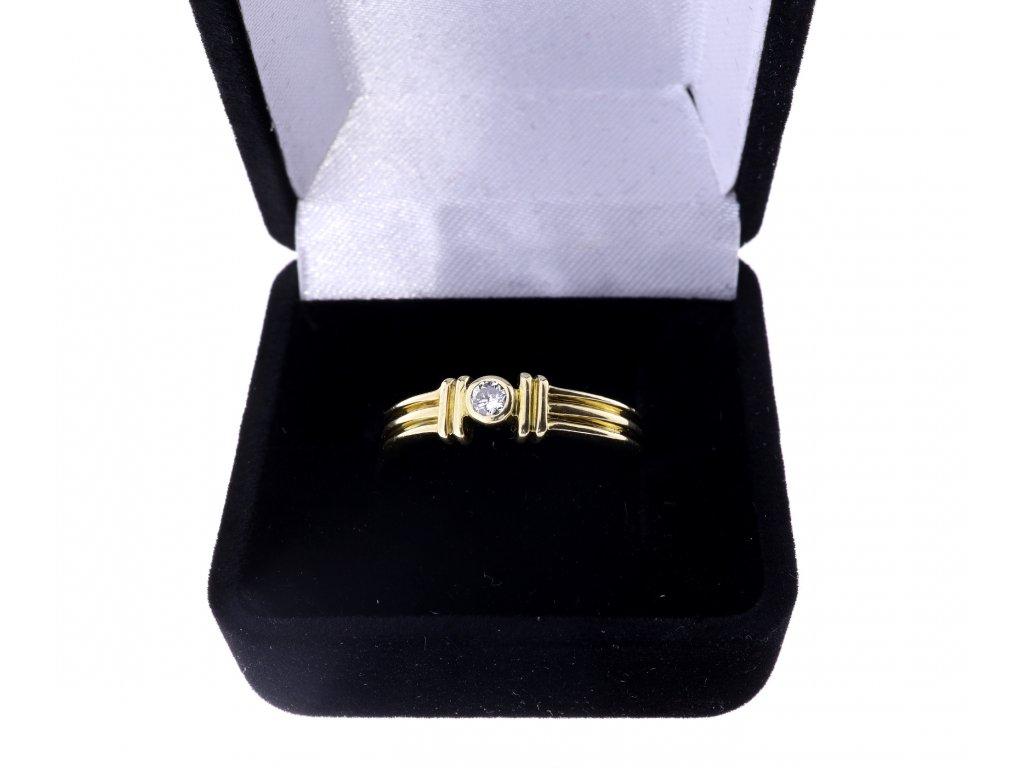 Prsten s briliantem cca 0,1ct