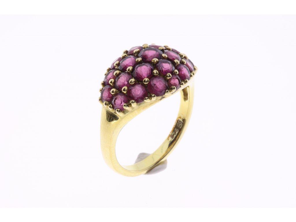 Prsten kamínky granáty