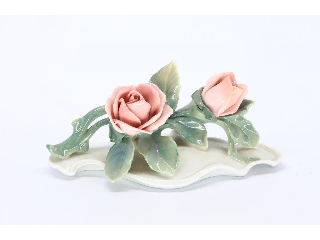 Porcelánová dekorace – růže