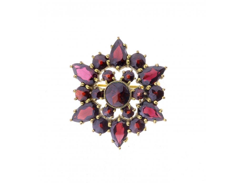 Starožitná brož, obecný kov