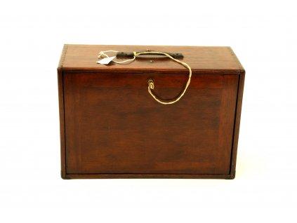 Cestovní kufr prodejce, 19.stoleti Anglie