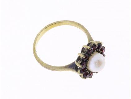 Starožitný prsten s perlou