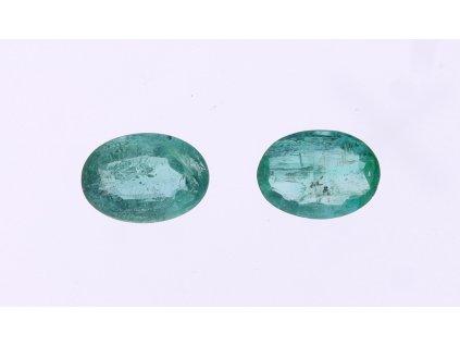 Dva přírodní smaragdy 0,73 a 0,70 ct