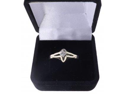 Zlatý 585/1000 briliantový prsten, cca 0,1ct