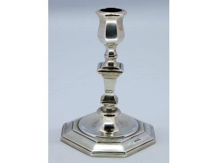 Anglický stříbrný svícen, 19.stoleti