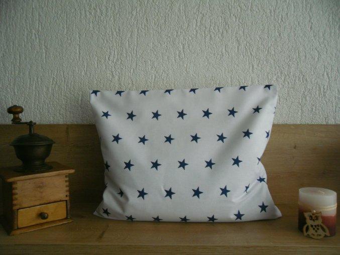 Pohankový polštářek modrá hvězda  -