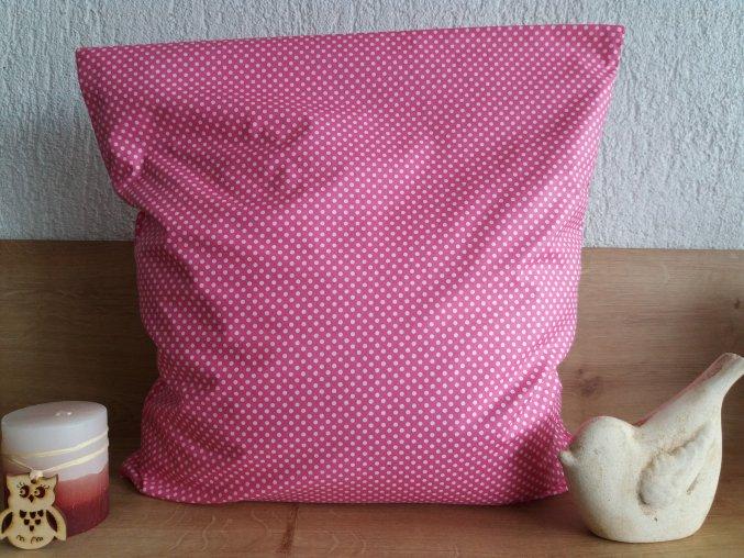 Pohankový polštářek relax puntík na růžové