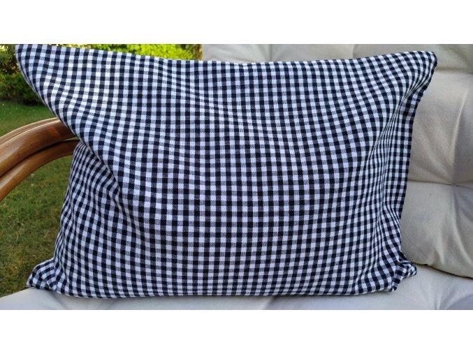 Pohankový polštářek relax černobílá kostka malá