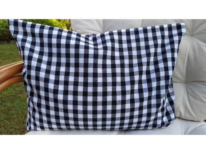 Pohankový polštářek relax černobílá kostka velká