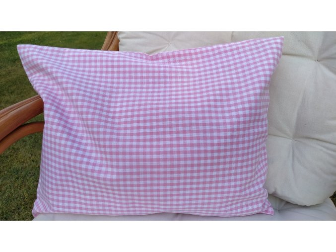 Pohankový polštářek růžovobílá kostka malá