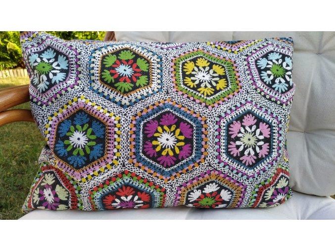Pohankový polštářek barevný květ
