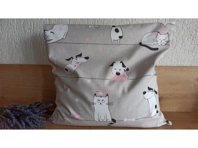 Pohankový polštářek relax kočka-pes