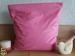 Pohankový polštářek puntík na růžové  -
