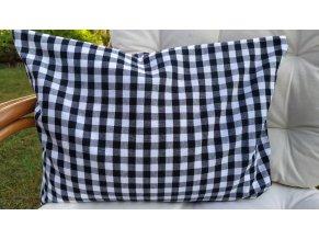 Pohankový polštářek černobílá kostka velká