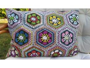 Pohankový nahřívací polštářek barevný květ