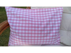 Pohankový polštářek relax růžovobílá kostka velká