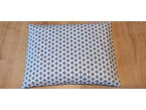 Pohankový nahřívací polštářek modrý vzorek