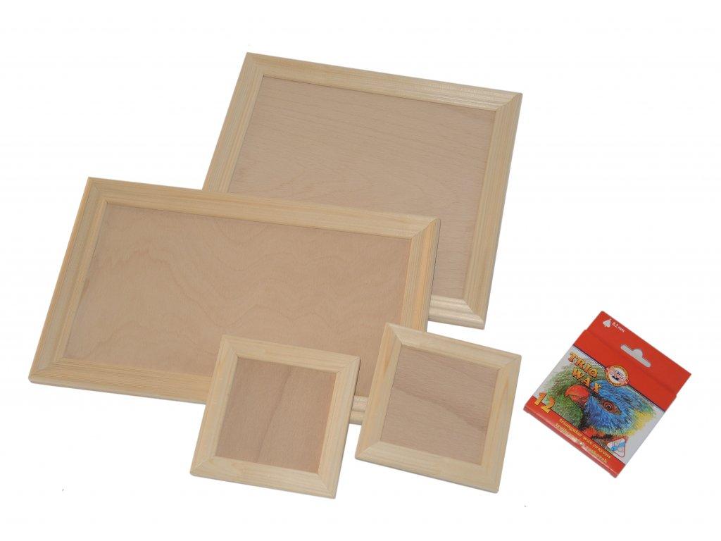 Sada dřevěných rámečků včetně voskovek