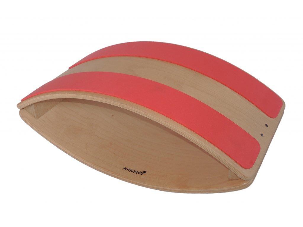 Balanční Bublina Kanami s protiskluzovými pásy - červená