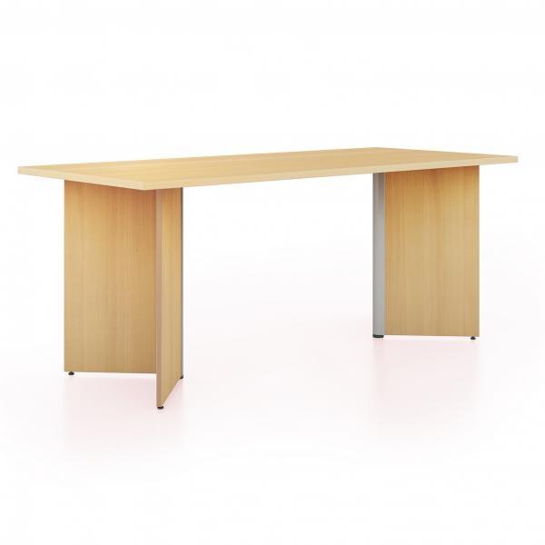 Konferenční stoly s dřevěnou podnoží
