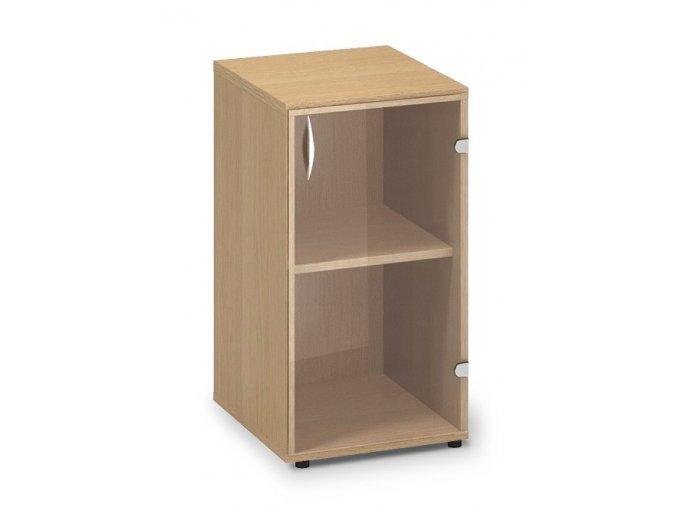 Skleněná skříň Pro Office 40x45,8x73,5 cm pravá