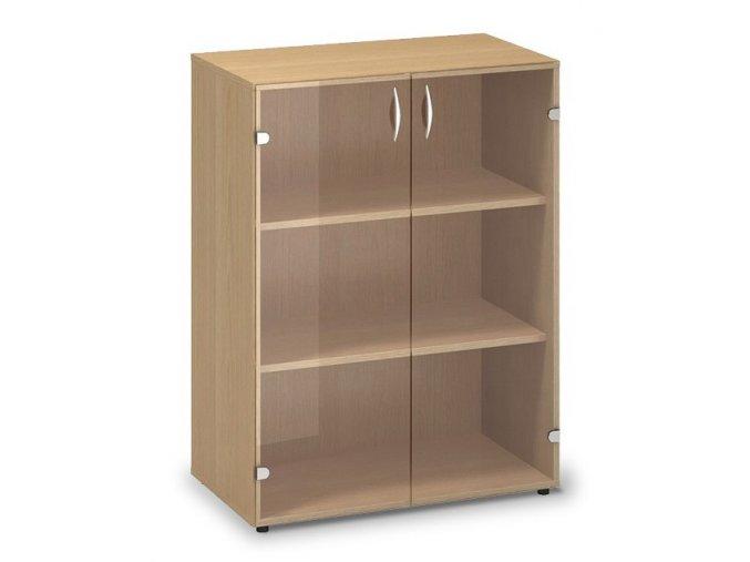 Skleněná skříň Pro Office 80x45,8x106,3 cm