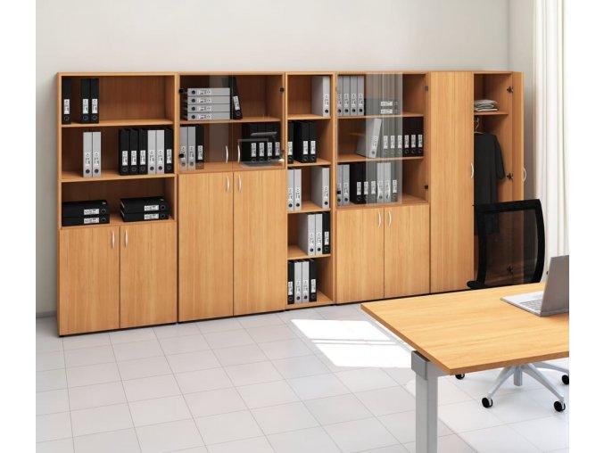 kancelarska skrin ProOffice 80x45x178 cm sklo 3m 2m