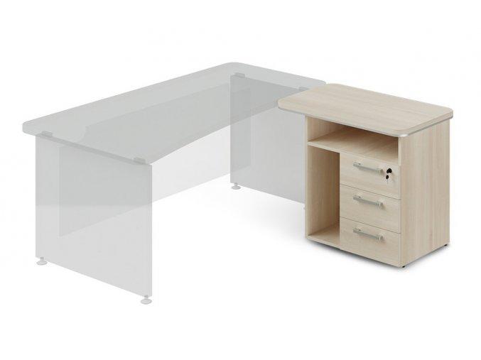 pristavny kontejner ProOffice 90x55 cm s nikou pro pc