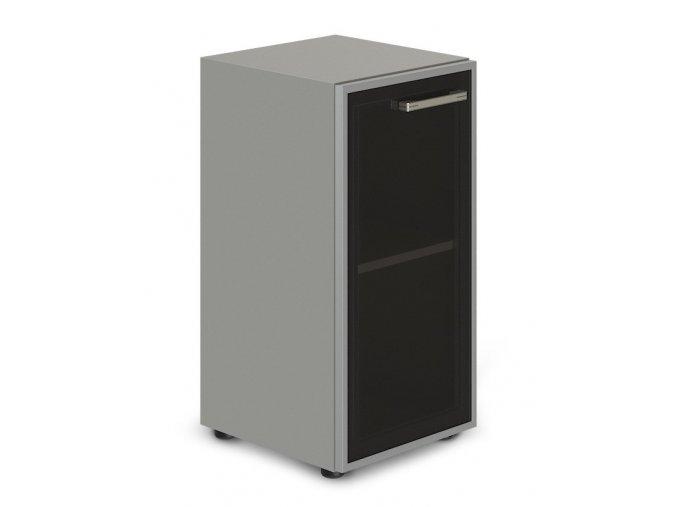 kancelarska skrin TopOffice 49,9x40,4x80 cm dvere sklo leve