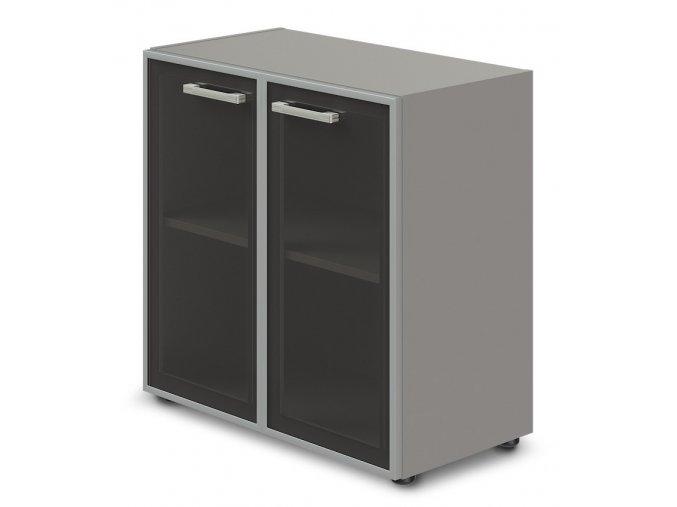 kancelarska skrin TopOffice 79,8x40,4x80 cm dvere sklo
