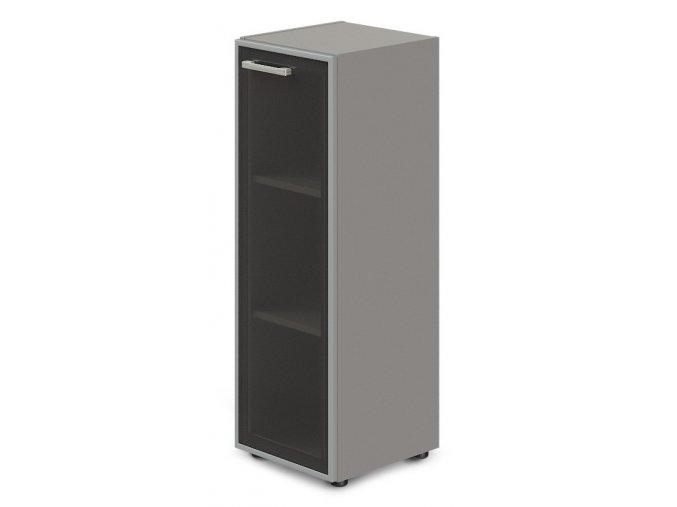 kancelarska skrin TopOffice 49,9x40,4x119,5 cm dvere sklo prave