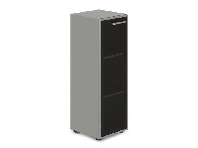 kancelarska skrin TopOffice 49,9x40,4x119,5 cm dvere sklo leve