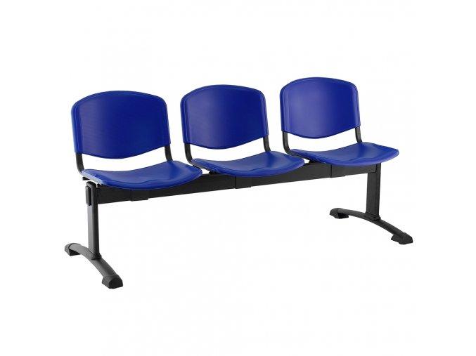 plastove lavice iso i 3 sedak cerne nohy modra