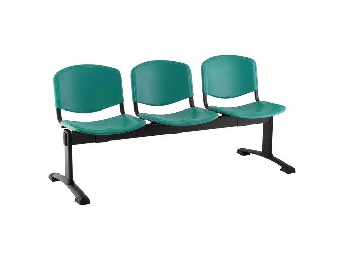plastove lavice iso i 3 sedak cerne nohy zelena