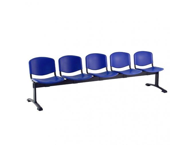 plastove lavice iso i 5 sedak cerne nohy modra