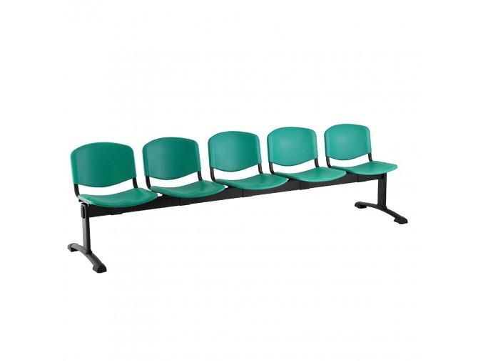 plastove lavice iso i 5 sedak cerne nohy zelena