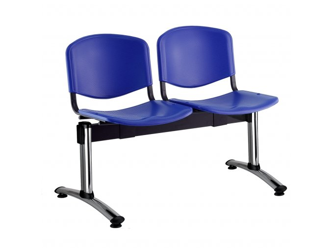 plastove lavice iso i 2 sedak chromovane nohy modra