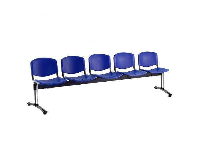 plastove lavice iso i 5 sedak chromovane nohy modra