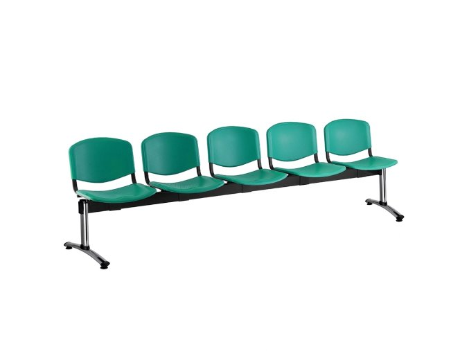 plastove lavice iso i 5 sedak chromovane nohy zelena