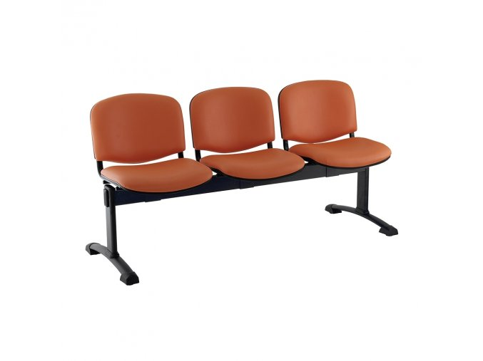 kozena lavice iso 3 sedak cerne nohy oranzova